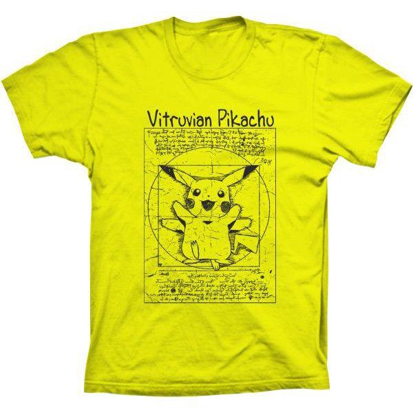 Camiseta Pikachu Vitruvian