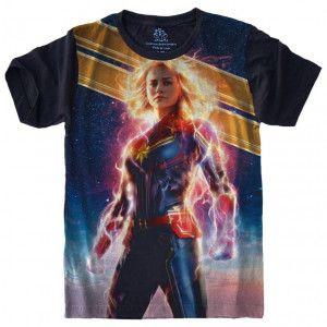 Camiseta Capitã Marvel Vingadores Avengers S-494