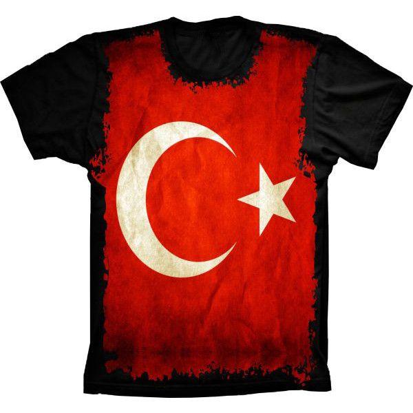 Camiseta Bandeira Da Turquia