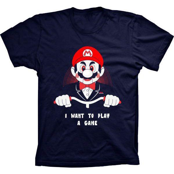 Camiseta Mario I Want to Play a Game