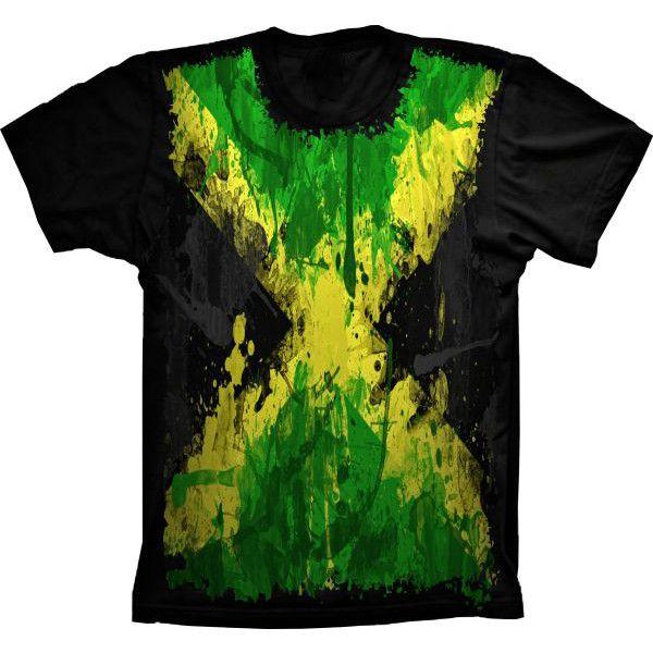 Camiseta Bandeira Da Jamaica