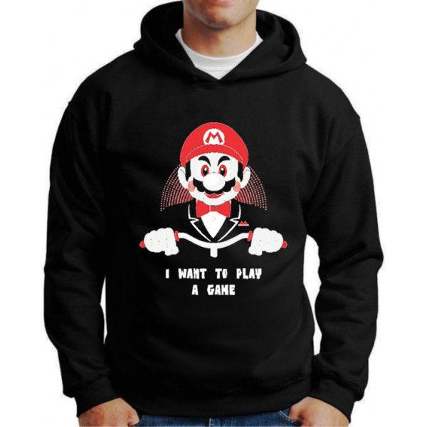 Moletom Mario I Want to Play a Game