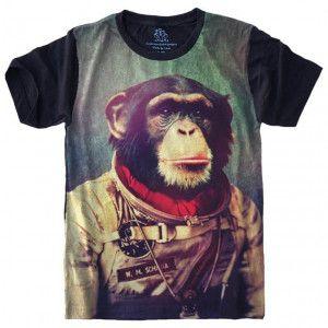 Camiseta Macaco Astronauta Chipanze S-436