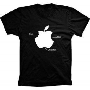 Camiseta Maça Apple Eva Jobs e Newton