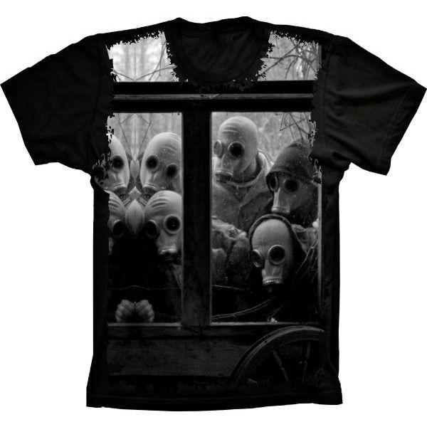 Camiseta Mascaras Gás