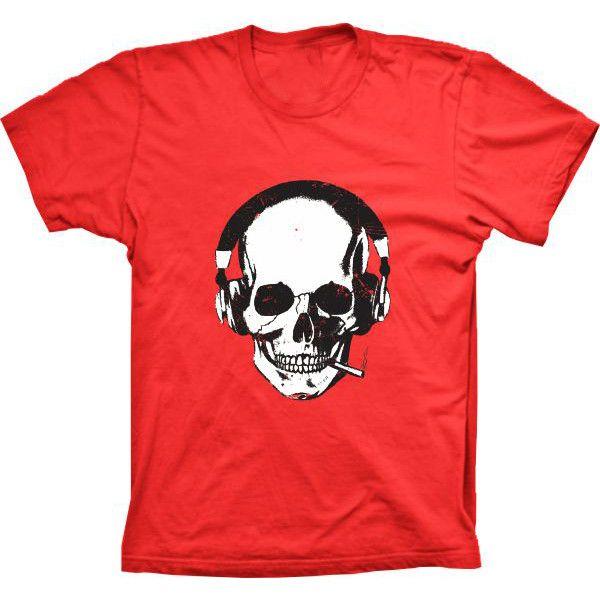 Camiseta Caveira Fone De Ouvido