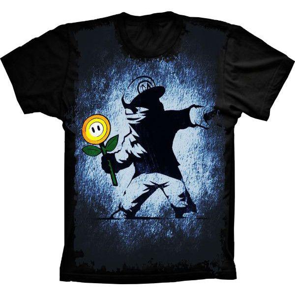 Camiseta Super Mario Flor